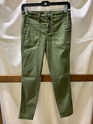 Army Olive Green J Crew Skinny Toothpick Pants Women's Size 26