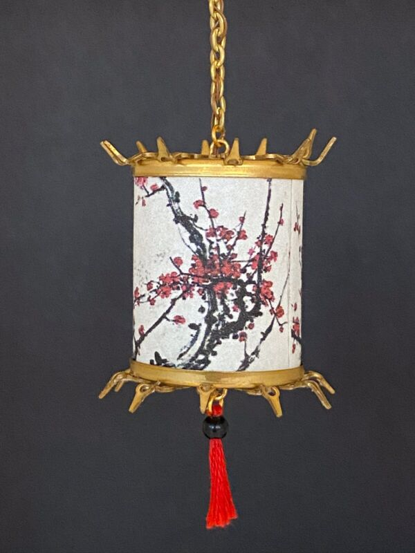 Dollhouse Miniature Handcrafted Chinese/Japanese/Oriental Lantern 1:12 12V