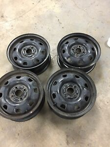 "Set of 4 steel rims 14"" x 5"" - 4x100 bolt pattern"