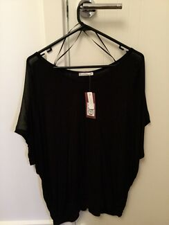 New Black Batwing Top