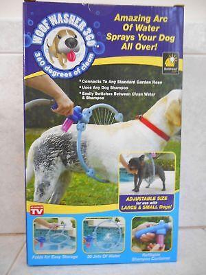 WOOF WASHER 360 DOG PUPPY ANIMAL BATH SHOWER HOSE SHAMPOO WATER WASH BX
