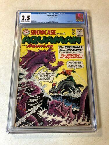 Showcase #30 CGC 2.5 origin AQUAMAN 1961 key issue Creatures Atlantis AQUALAD