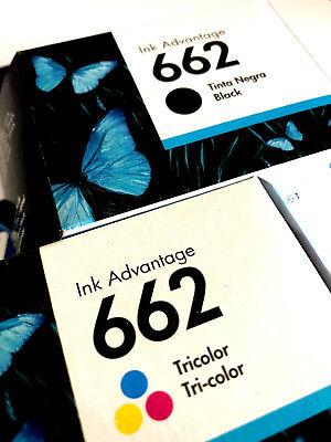 2 Pack - HP 662 Ink Cartridge Black + TRI-COLOR Original CZ103AL, CZ104A (Combo) ()