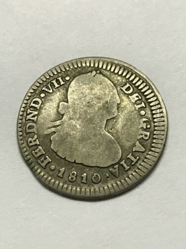 1810/9 P-JF  Colombia 1 Real Silver Rare #10681