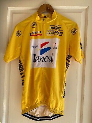 Maillot Jaune Le Tour Cycliste Vintage Banesto 1990 Réplique Miguel Indurain XL