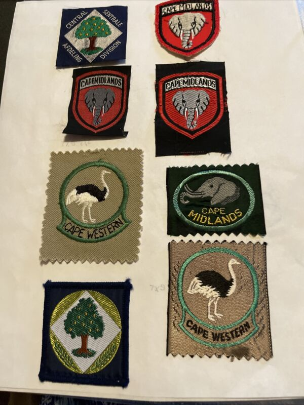Africa Lot of 8 Boy Scout Patches Including Cape Western Cape Midland