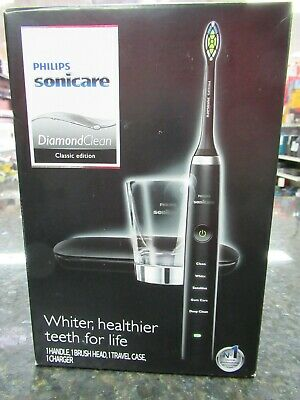 NEW!! Philips HX9351/57 Sonicare Diamond Clean Classic Electric Toothbrush/Black