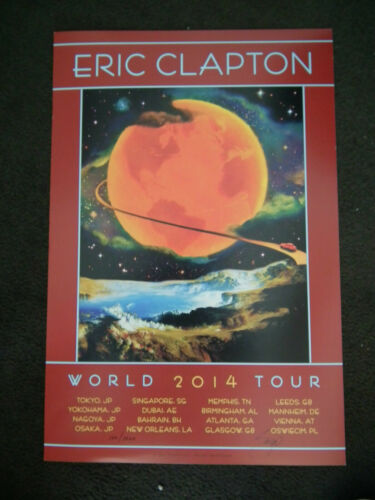 ERIC CLAPTON 2014 TOUR POSTER BY DAVID SINGER