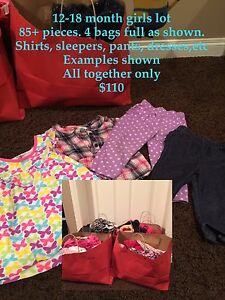 Girls 12-18 month clothes lot 85+ pieces
