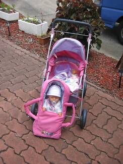 BABY BORN STROLLER/DOLL & ACCESSORIES