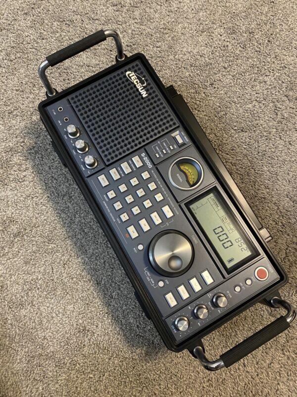 TECSUN S2000 PLL AM/FM MW LW Aircraft Band Radio Receiver - Black