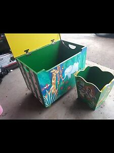 Toy box and garbage can