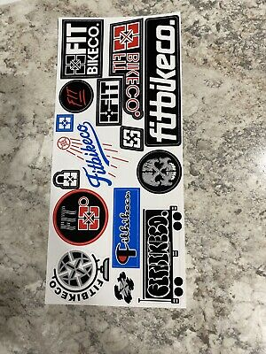 "NEW 3 x Fiend Bmx Stickers White 7.25"" Sticker Frame Forks Bars Decals Decal"