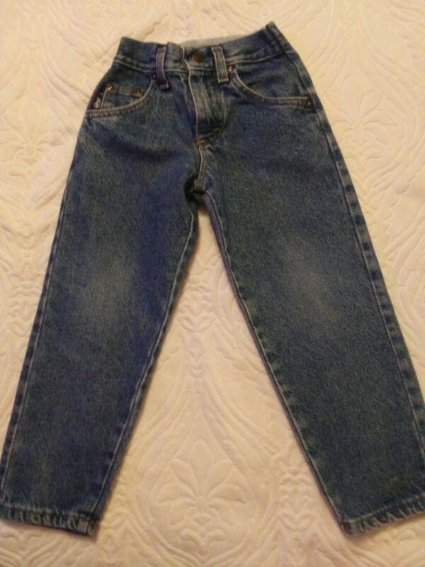 Vtg.Toddler Lee jeans tapered Sz.5 slim flat front elastic back waist 60/70s USA