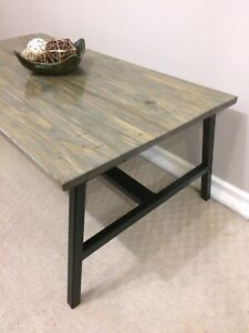Rustic industrial handcrafted coffee table