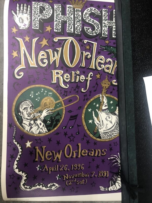 phish poster pollock New Orleans Relief
