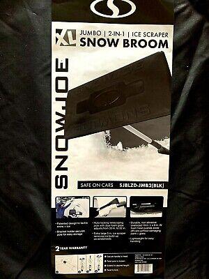 Snow Joe Car Ice Broom Windshield Scraper Brush Foam Tool Telescoping Removal