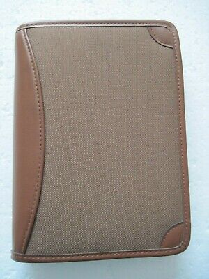 Day Runner Planner Organizer Brown 6 Ring 8 12 X 6 Zip Around