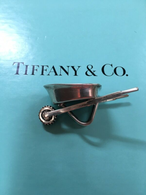 Tiffany & Co. sterling silver garden wheelbarrow vintage very rare from 1996 925