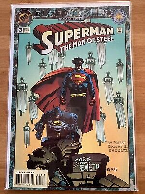 Superman Man of Steel Annual #3 DC Comics Elseworlds Mike Mignola Cover Batman
