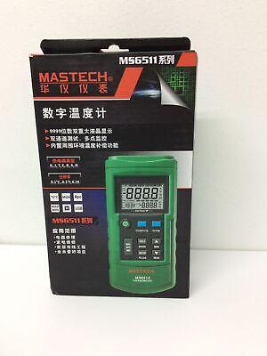 Mastech Ms6514 Digital Thermometer Dual-channel Temperature Sensor