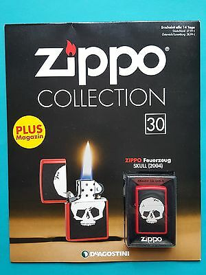 Zippo Collection Nr.30    Sturmfeuerzeug   SKULL (2004)    never fired !!!
