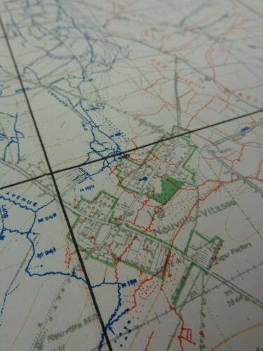 WW1 (1918) ROYAL FLYING CORPS - Map of ARTILLERY POSITIONS & ENEMY ORGANISATION