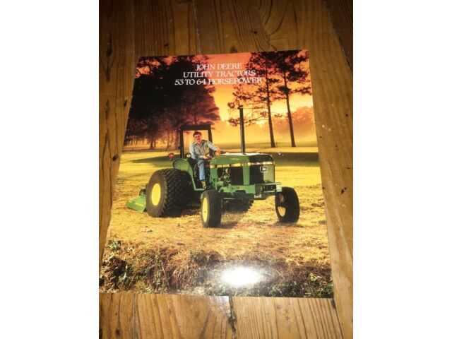 Vintage John Deere advertising catalog 1987 2100-2