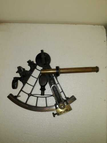 Sextant: 19th Century 7.5 Inch sextant by W F Cannon
