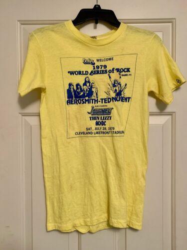 World Series of Rock 1979 Aerosmith - Ted Nugent Cleveland Iconic T-Shirt