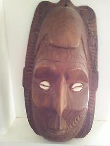 WOODEN CARVINGS, SHELL PAPUA/NEW GUINEA ARTIFACTS Collingwood Park Ipswich City Preview