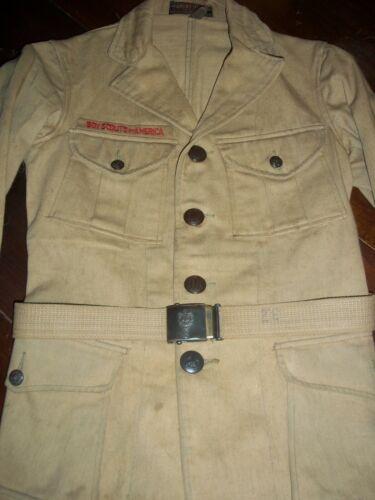 1920 Sigmund Eisner Boy Scout Jacket & Belt Plus 1913 BSA Handbook