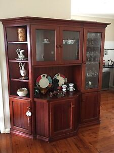 Stained timber display cabinet Charlestown Lake Macquarie Area Preview