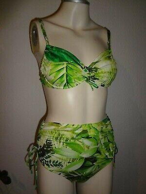 Retro Bikini Vintage 50er 60er Rösch grün Gr. 38