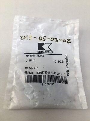 10 Pack Kennametal 191.698 Insert Screws M 3.5-4h X 12 G1sf-12 1132063 Torx