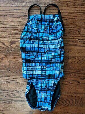 Adidas Women's Training Swimsuit Size 30 EUC Blue (Training Swimsuit)