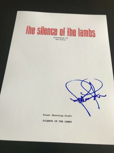 JODIE FOSTER SIGNED AUTOGRAPH MOVIE SCRIPT SILENCE OF THE LAMBS COA AUTO RARE X2
