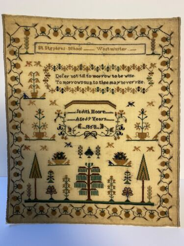 "Antique School ""Sampler"" 1850"