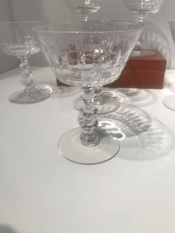 Tiffin Franciscan Champagne Tall Sherbet Set of 6 Glasses