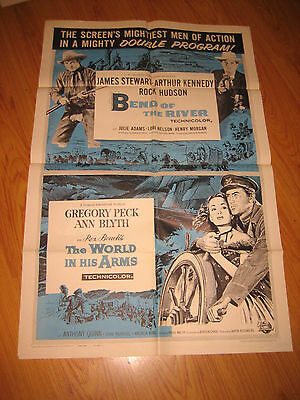 BEND OF THE RIVER/WORLD IN HIS ARMS Original 1sh Movie Poster 1958