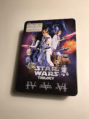 Star Wars Trilogy - Original Cinema Versions 6- Disc DVD Steelbook Tin Boxset