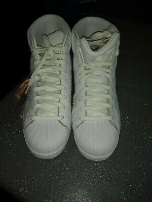 Pre Owned, Men's Adidas High Top Trainers, Size 9uk/43.5: EU. White
