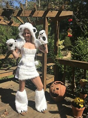 Polar Bear Halloween Costumes (Be Wicked POLAR BEAR Furry Cosplay Festival Halloween costume YANDY Size)