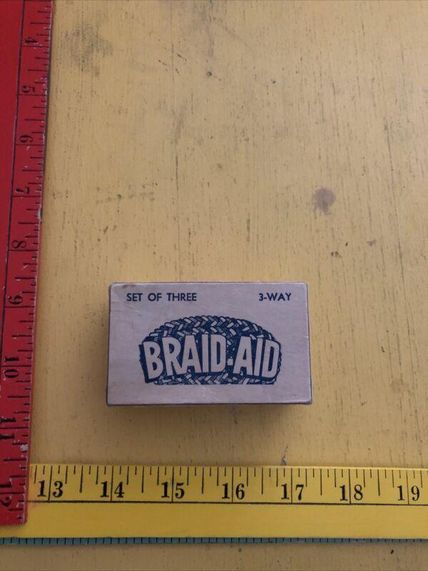 VINTAGE BRAID-AID TOOLS set of 3 Adjustable Vari-Folder With INSTRUCTIONS