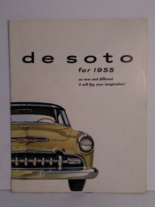 1955 DE SOTO INFORMATION BOOKLET  FOR NEW DE SOTO AUTO BROCHURE ANTIQUE VINTAGE