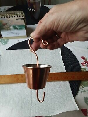 Copper plated ant moat for hummingbird feeders hand made