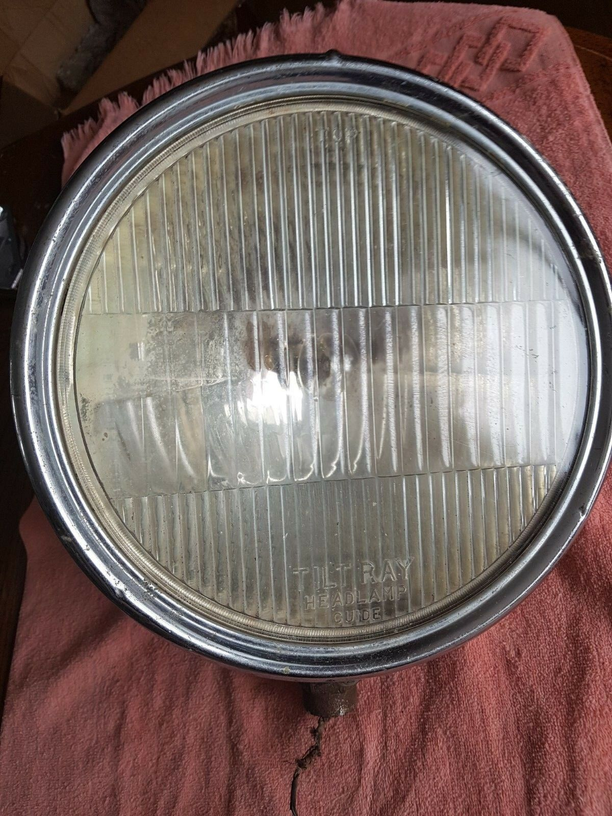Vintage Chrome 1930s Guide Tilt Light Headlight Chev Olds Buick Ford Dodge Plymo