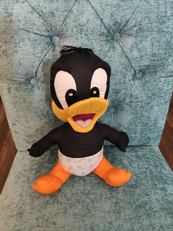 Vintage Looney Tunes Baby Daffy Duck Plush By TYCO