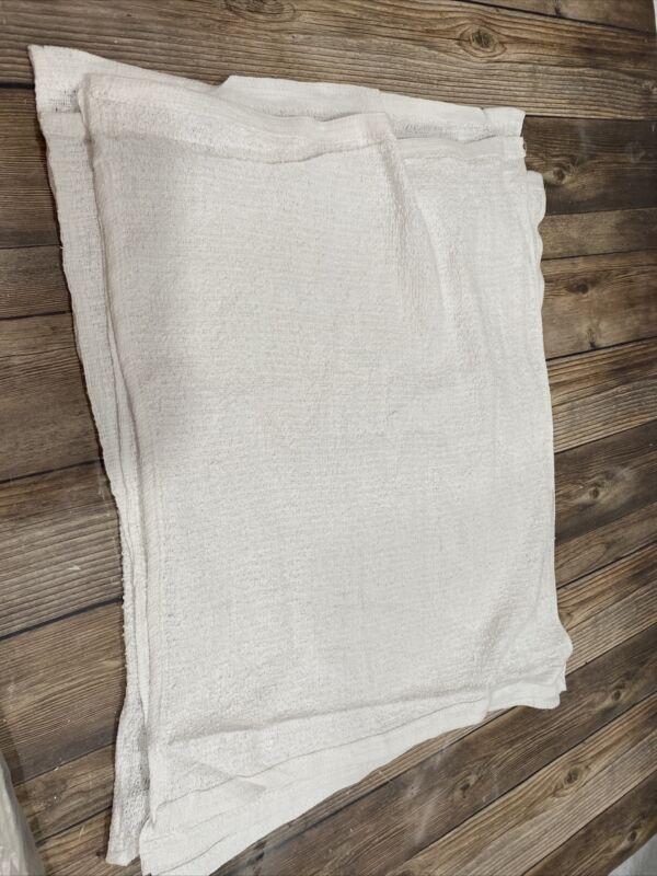 14 X 20 White Cleaning Shop Rag Bulk Lot Of 60  100% Cotton