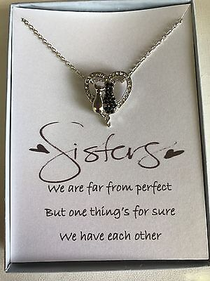 Love Heart Pendant Necklace W  Poem For Sister Friend